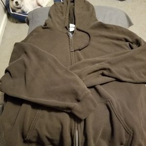 Zipup sweat shirt jacket